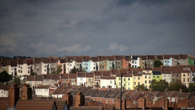 Terraced housing in Bristol