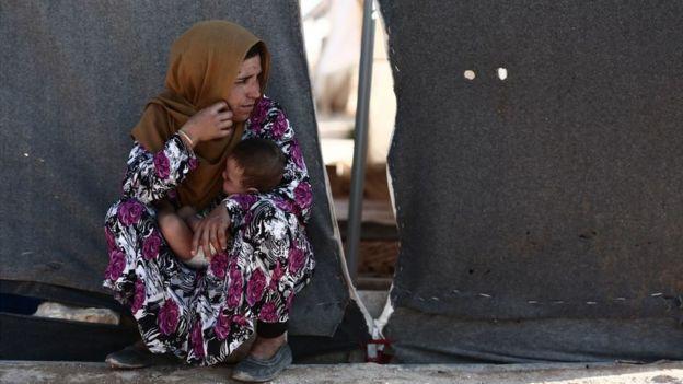 En Idlib hay miles de desplazados que llegaron allí huyendo de la guerra en otras zonas de Siria.