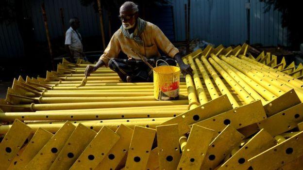 Trabajador en India