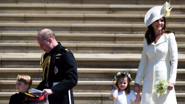 Prince George, Princess Charlotte and the Duke and Duchess of Cambridge