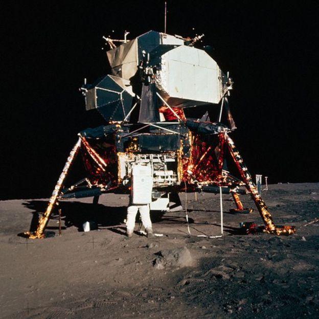El módulo lunar Águila.