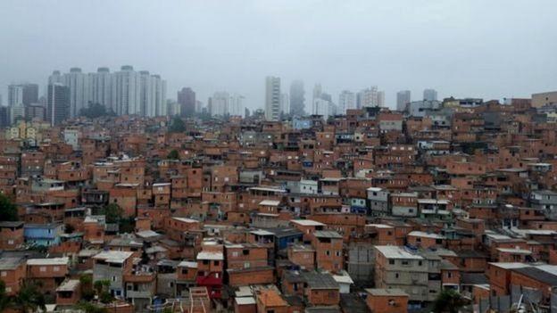 Vista panorâmica de Paraisópolis