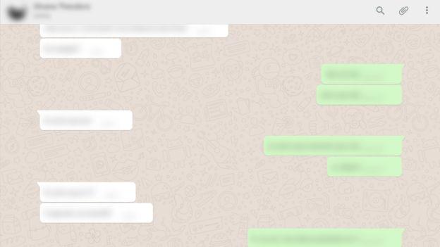 Troca de mensagens ocultadas por extensão