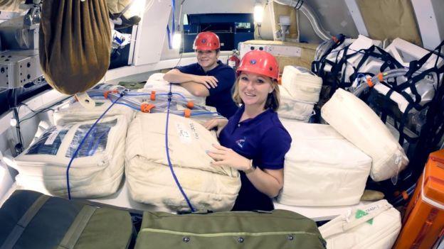 Bolsas sendo testadas pela Nasa para proteger astronautas da radiação
