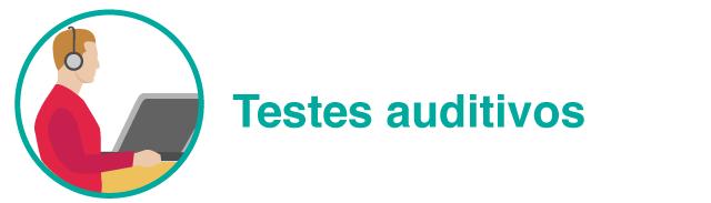 Cabeçalho com ilustração: Testes auditivos