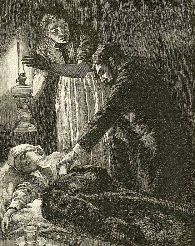 Enfermo siglo XIX