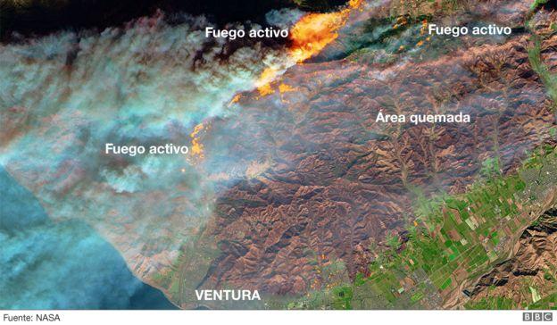 Mapa zonas afectadas. (Foto: NASA)