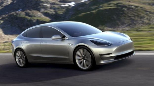 Tesla Model Pitched As An Affordable Electric Car Bbc News