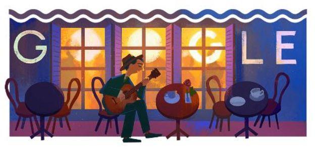 Homenagem do Google aos 109 anos de nascimento de Noel Rosa