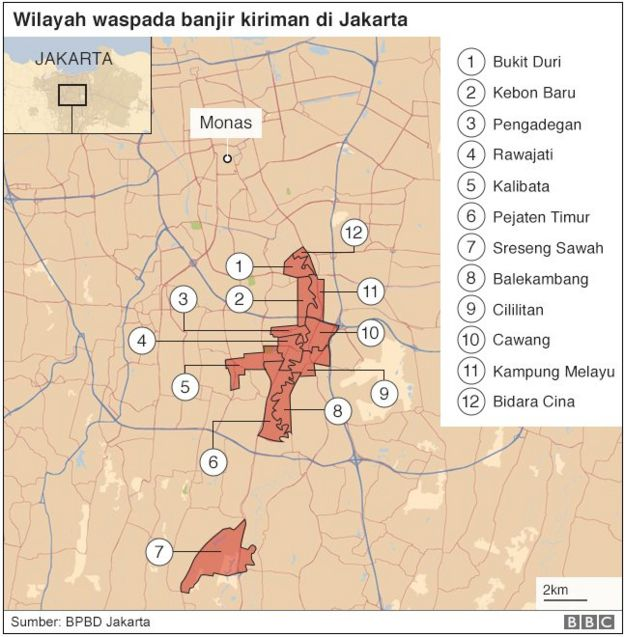 Peta banjir jakarta