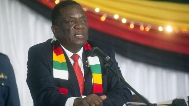 El presidente de Zimbabue, Emmerson Mnangagwa.