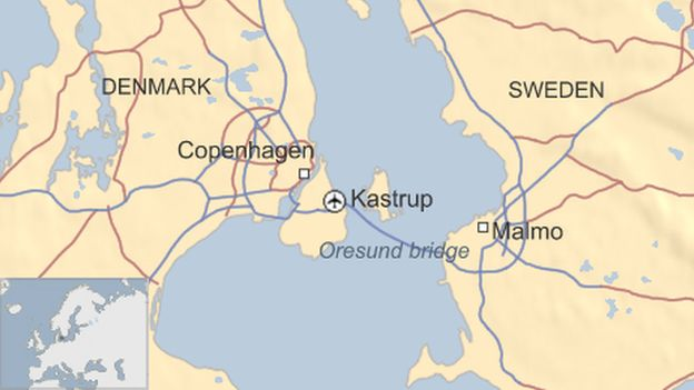 Sweden ends id checks on the bridge with denmark bbc news oresund bridge map gumiabroncs Gallery