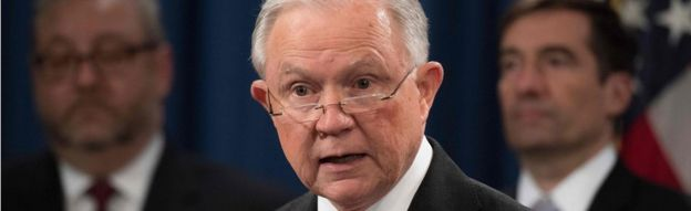 Attorney General Jeff Sessions on 1 November