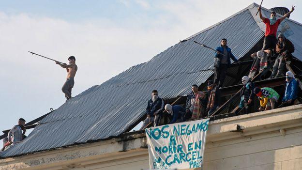 Un motín en la cárcel de Villa Devoto, el 24 de abril de 2020