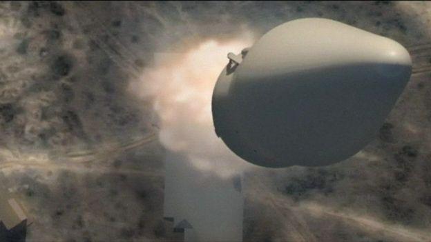Recreación de un misil ruso