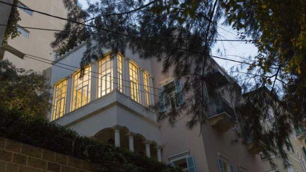 La casa en Beirut en donde Ghosn vive ahora.