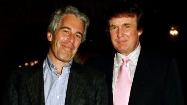 Trump y Epstein en los 90