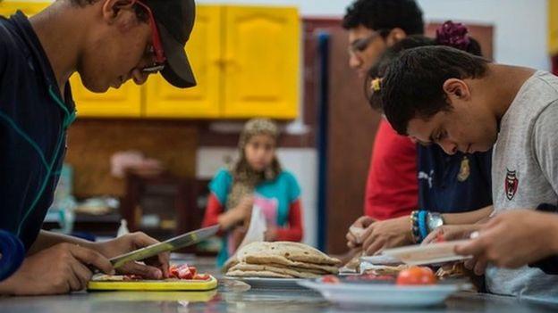 أحد مراكز تعليم الأشخاص ذوي الإعاقة في مصر
