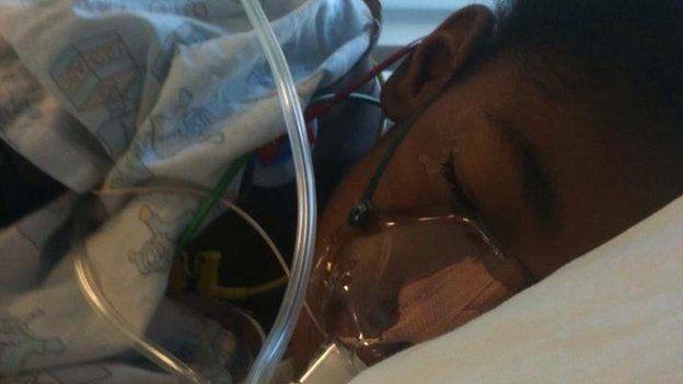 Ella Adoo-Kissi-Debrah in hospital