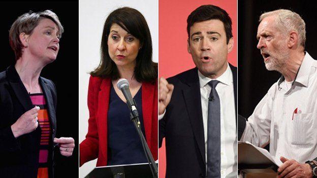 Yvette Cooper; Liz Kendall; Andy Burnham; Jeremy Corbyn