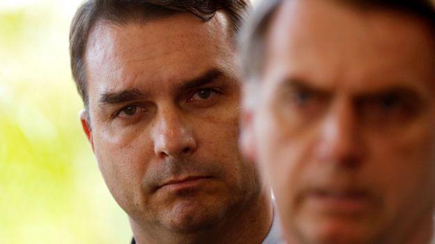 Flávio e Jair Bolsonaro
