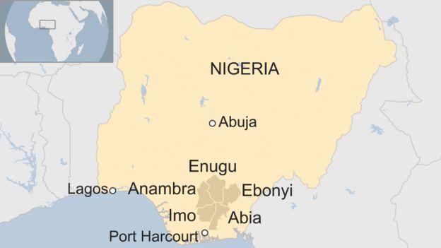 Biafra shutdown cripples Nigerian cities - BBC News
