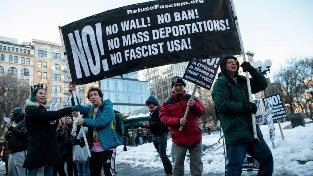 Protestas contra las políticas de Trump