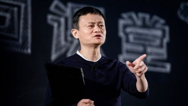 Founder and Chairman of Alibaba Group Jack Ma gives a speech at the 'Ma Yun Rural Teachers Prize' on January 22th, 2018 in Sanya , Hainan province, China.
