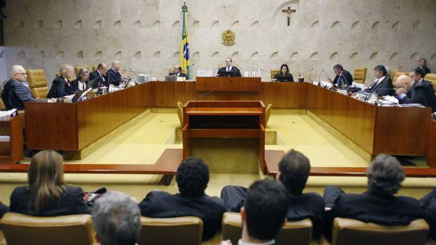 Plenário do STF reunido em sessão