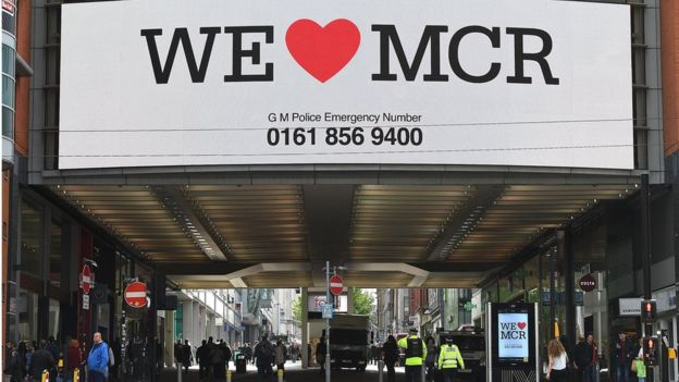 We love Manchester sign