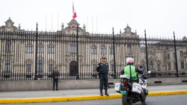 Palacio de Gobierno en Lima.