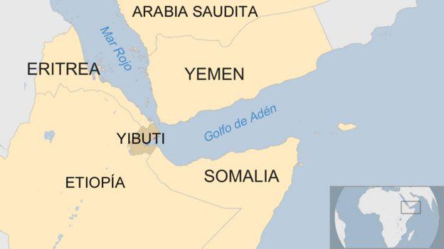 mapa de yibuti