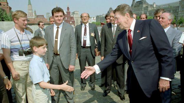 Reagan en Moscú