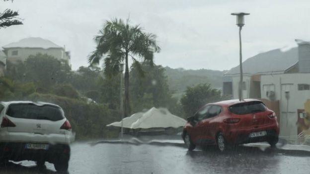 Lluvias en la isla Antigua