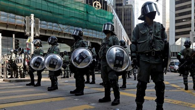 Police in Hong Kong
