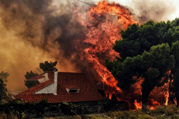 آتشسوزی اطراف آتن