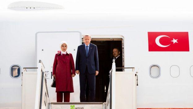 Cumhurbaşkanı Erdoğan ve eşi