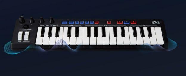 The DeepComposer keyboard