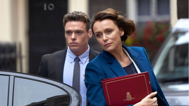 Richard Madden and Keeley Hawes in Bodyguard