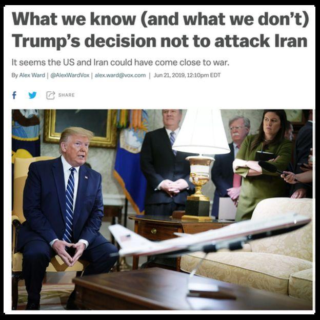 """ووکس در یادداشتی به """"آنچه در مورد تنش با ایران میدانیم و آنچه نمیدانیم"""" پرداخته است"""