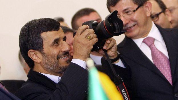 Davutoğlu Ahmedinecad ile