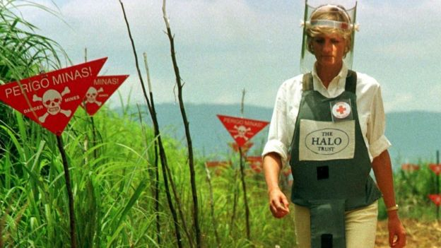 Princess Diana's visit to Angola in 1997