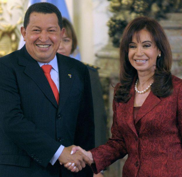 Cristina Kirchner y Hugo Chávez