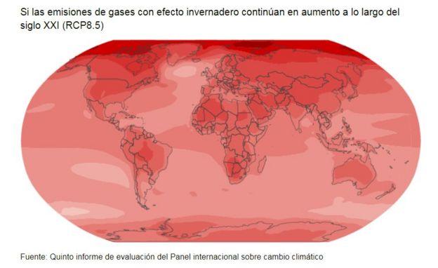 Temperaturas en el planeta a lo largo de los siglos XX y XXI