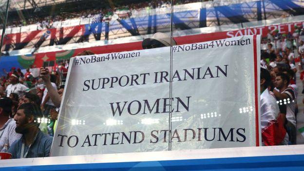 فعالان حقوق زنان از فرصتهای مختلف از جمله دیدار ایران با مراکش در جام جهانی روسیه استفاده میکنند تا به منع حضور زنان در ورزشگاههای ایران اعتراض کنند