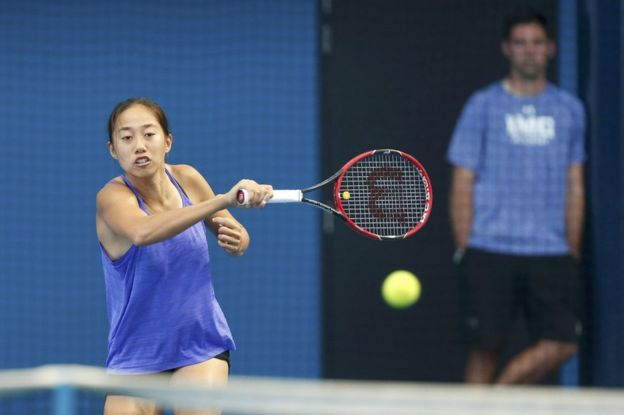 Zhang Shuai The New Little Flower Of Chinese Tennis Bbc News