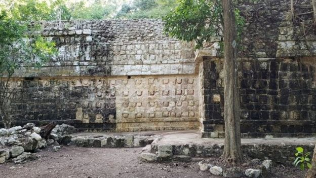A temple at the Kulubá site, Mexico