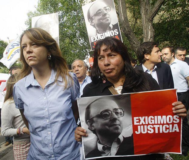 Imagen de Jaime Guzmán en un cartel.