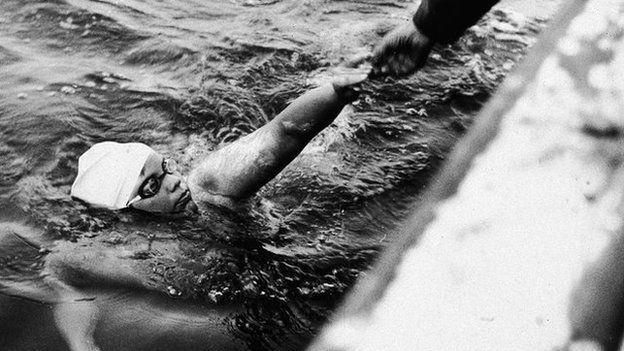 Lynne Cox on her swim across the Bering Strait