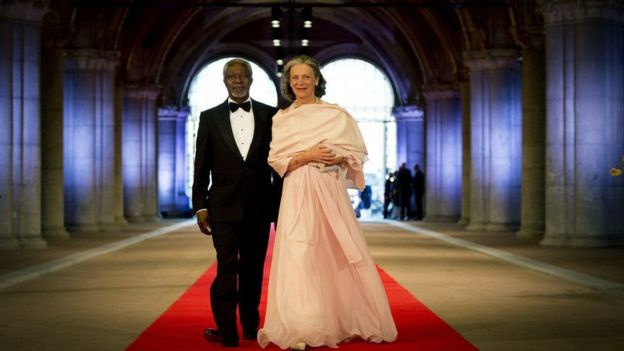 Kofi Annan alimuoa mke wake wa pili Nane Marie mwaka 1984